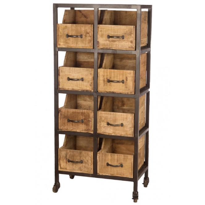 Cassettiera in ferro vintage con cassetti — Mobili | Ambroso