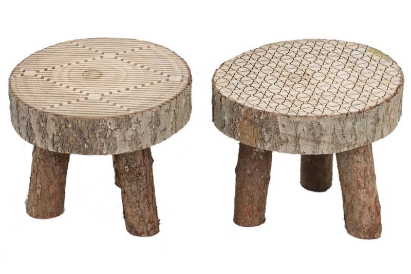 Sgabello legno naturale cm h u mobili ambroso